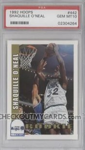 1992 Hoops Shaquille O'Neal PSA 10