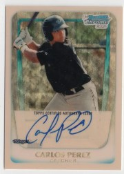 2011 Bowman Chrome Superfractor Carlos Perez
