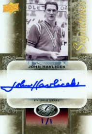 2011 UD All-Time Greats John Havlicek 1/1 Autograph