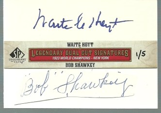 2011 Upper Deck Legendary Dual Cut Signatures