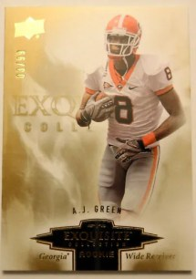 2010 Exquisite AJ Green Rookie RC Card /99