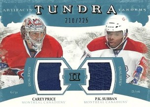 11-12 UD Artifacts Dual Tundra Jersey Casey Price Subban