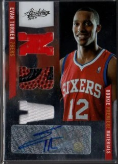 2010-11 Panini Absolute RPM Evan Turner Autograph RC #153