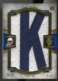 2011 Topps Supreme Jake Locker Letter Patch Card