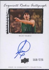 2009-10 Upper Deck Exquisite Ricky Rubio