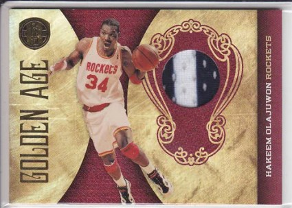 2010/11 Panini Gold Standard Hakeem Olajuwon Golden Age Jersey Card