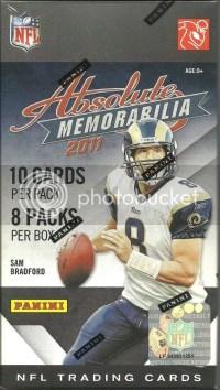 2011 Panini Absolute Memorabilia Football Retail Value Box