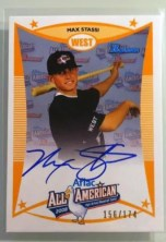 2008 AFLAC Bowman MAX STASSI Rookie Auto RC #/174