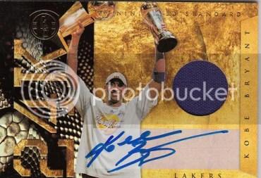 10/11 Gold Standard 24K Kobe Bryant Autograph Jersey Card