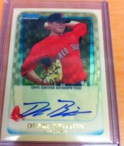 2011 Bowman Chrome Superfractor Drake Britton Autograph /1