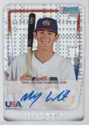 2011 Bowman Chrome Mikey White USA Autograph