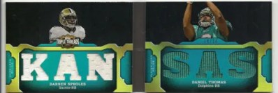 2011 Topps Triple Threads Dual Jersey Combo