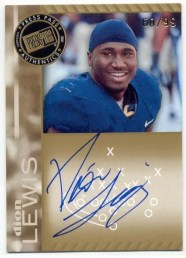 2011 Press Pass Dion Lewis Gold Autograph Rookie RC
