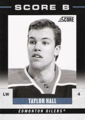2011-12 Score B Taylor Hall Insert Card Oilers