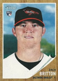 2011 Topps Heritage Zach Britton Rookie National Convention