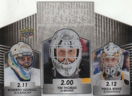 2011-12 Upper Deck Series 1 Clear Cut Leaders Triple