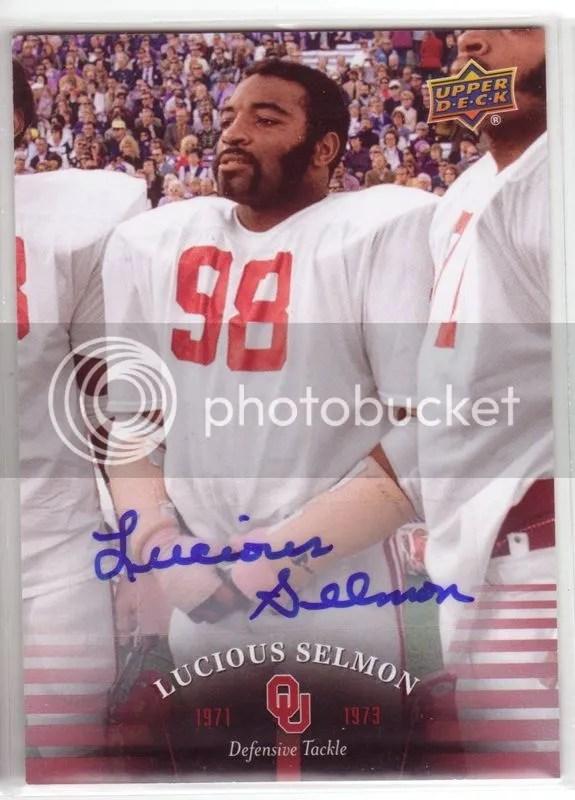 2011 Upper Deck Oklahoma Autograph #24 Lucious Selmon