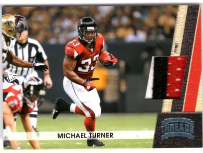 2011 Panini Threads Michael Turner Prime Jersey Card