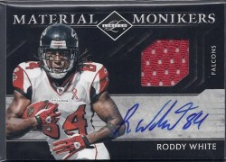 2011 Panini Limited Roddy White Material Monikers