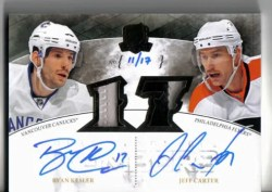 10-11 The Cup Dual Signature Patches Kesler - Carter