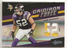 2011 Panini Absolute Chad Greenway Force Jersey