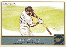 2011 Allen & Ginter Jose Bautista Base Card
