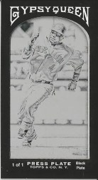 2011 Gypsy Queen Black Border Mini Printing Plate Brandon Phillips