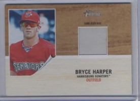 2011 Topps Heritage Bryce Harper Base Relic Card