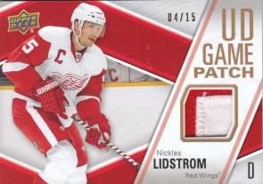 2011-12 Upper Deck Game Patch Nickles Lidstrom