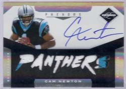 2011 Panini Limited Cam Newton Autograph RC Rookie