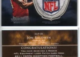 2011 Topps Inception Jon Baldwin NFL Logo Patch