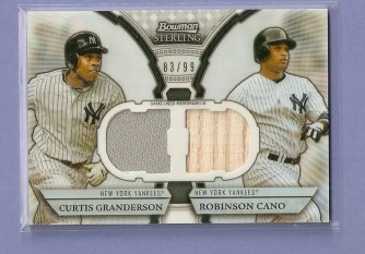 2011 Bowman Sterling Dual Relic #GC Curtis Granderson - Robinson Cano Card