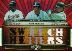 2011 Topps Triple Threads Triple Relic Switch Hitters