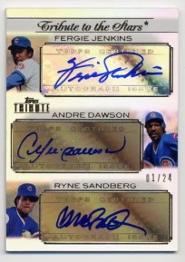 2011 Topps Tribute Triple Autograph