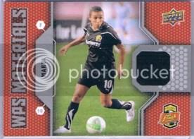 2011 UD Soccer WPS Materials Marta Jersey Card