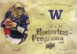 2011 Upper Deck Jake Locker Historical Programs RC
