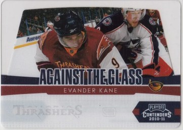 2010-11 Playoff Contenders Hockey Evander Kane Against The Glass Insert Card #13