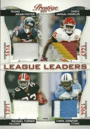 2011 Prestige League Leaders Quad Patch /50