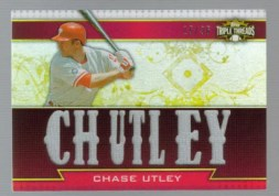 2011 Topps Triple Threads Chase Utley Chutley Jersey Card