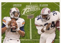 2011 Upper Deck Dream Tandems Bo Jackson Cam Newton