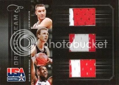 2010-11 Panini Elite Black Box Dream Team Mullin - Robinson - Bird Triple Jersey Card