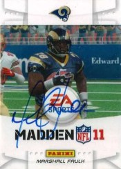 2011 Panini Black Friday Marshall Faulk EA Sports Autograph