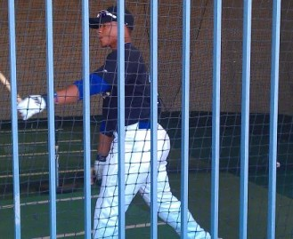 Michael Choice Stockton Ports Batting Practice Picture