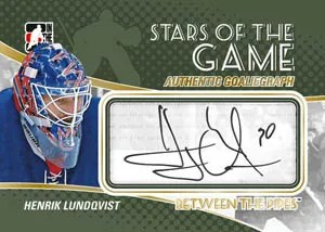 2010/11 ITG Between The Pipes GoalieGraph Henrik Lundqvist Autograph Card