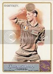 2011 Topps Allen & Ginter Shmyrev Card