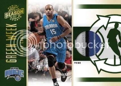 2010/11 Panini Season Update Green Week Vince Carter Prime Jersey Card