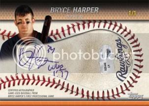 2011 Topps Pro Debut Bryce Harper Cut Baseball Autograph /1