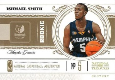 2010-11 Panini National Treasures Ishmael Smith Rookie Card