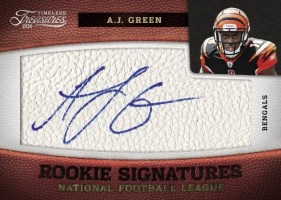 2011 Timeless Treasures AJ Green Autograph RC Card #/165
