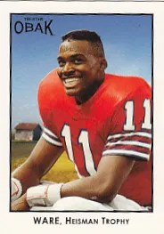 2011 TriStar Obak Football Andre Ware Card